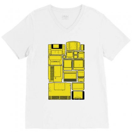 The Cartridge Family V-neck Tee Designed By Ronz Art