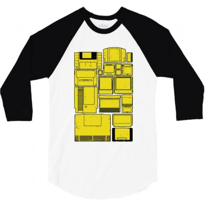 The Cartridge Family 3/4 Sleeve Shirt Designed By Ronz Art