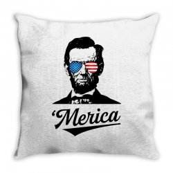 abraham lincoln july 4th Throw Pillow | Artistshot