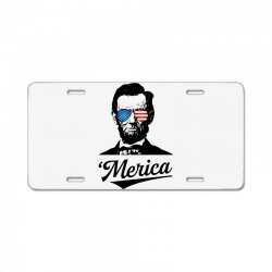 abraham lincoln july 4th License Plate | Artistshot
