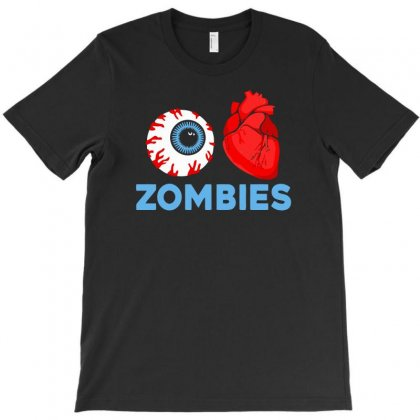 I Heart Zombies Scary Eye Bloody Heart Halloween T-shirt Designed By Aheupote