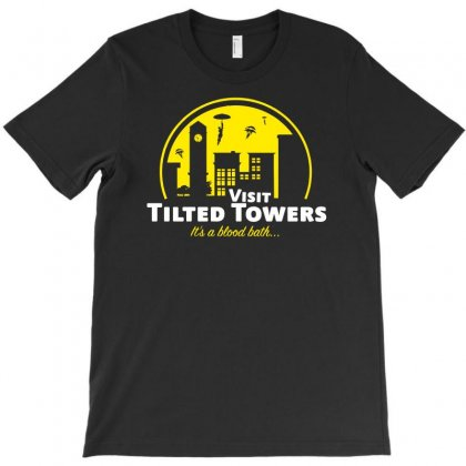 Visit Tilted Towers Fortnite T-shirt Designed By Aheupote