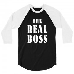The Boss - The Real Boss Family Matching 3/4 Sleeve Shirt | Artistshot