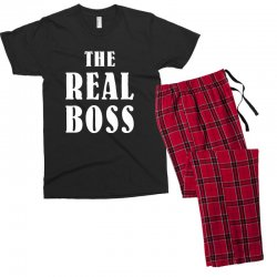 The Boss - The Real Boss Family Matching Men's T-shirt Pajama Set | Artistshot