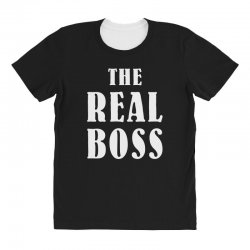 The Boss - The Real Boss Family Matching All Over Women's T-shirt | Artistshot