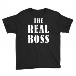 The Boss - The Real Boss Family Matching Youth Tee | Artistshot