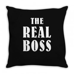 The Boss - The Real Boss Family Matching Throw Pillow | Artistshot