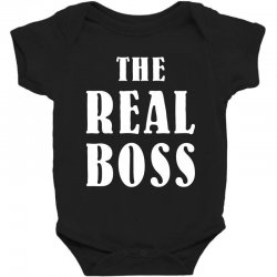 The Boss - The Real Boss Family Matching Baby Bodysuit | Artistshot