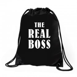 The Boss - The Real Boss Family Matching Drawstring Bags | Artistshot