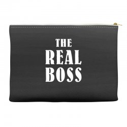 The Boss - The Real Boss Family Matching Accessory Pouches | Artistshot