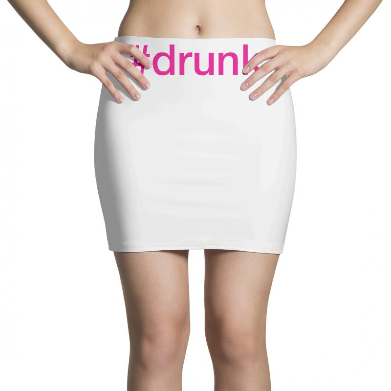 4417841ee3 Custom #drunk Hashtag Neon Pink Mini Skirts By Mdk Art - Artistshot