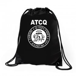 a tribe called quest atcq members ramones Drawstring Bags | Artistshot