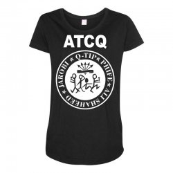 a tribe called quest atcq members ramones Maternity Scoop Neck T-shirt | Artistshot