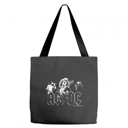 Ac Dc Classic Hard Rock Band Tote Bags Designed By Mdk Art