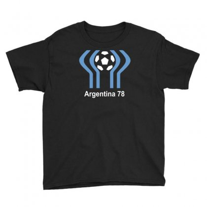 Argentina 78 World Cup 1978 Retro Football Youth Tee Designed By Mdk Art