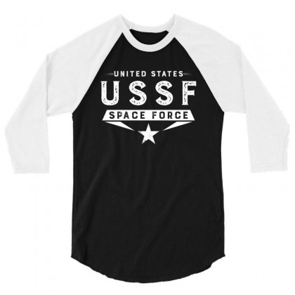 United States Ussf Space Force 3/4 Sleeve Shirt Designed By Bigdlab