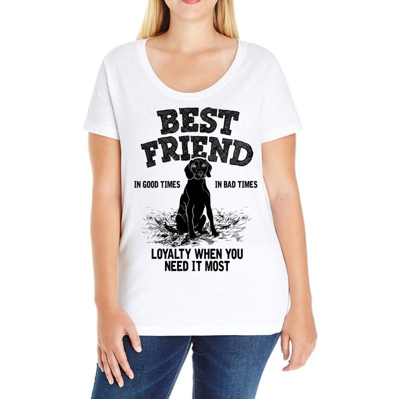 1aaebb6c Custom Best Friend Beagle Ladies Curvy T-shirt By Bigdlab - Artistshot