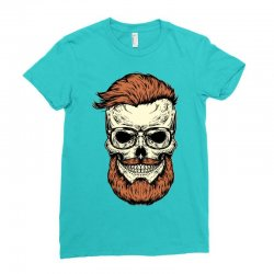 terror skull Ladies Fitted T-Shirt | Artistshot