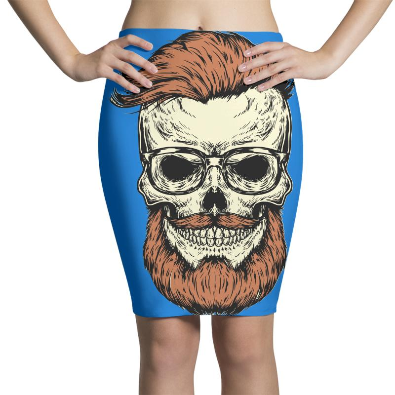 Terror Skull Pencil Skirts | Artistshot