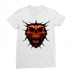 evil face Ladies Fitted T-Shirt | Artistshot