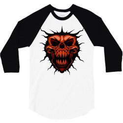 evil face 3/4 Sleeve Shirt | Artistshot