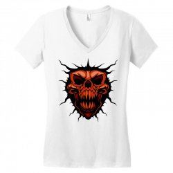 evil face Women's V-Neck T-Shirt | Artistshot