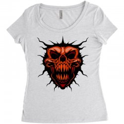 evil face Women's Triblend Scoop T-shirt | Artistshot