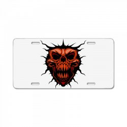 evil face License Plate | Artistshot