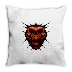 evil face Throw Pillow | Artistshot