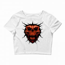 evil face Crop Top | Artistshot