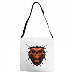 evil face Adjustable Strap Totes | Artistshot