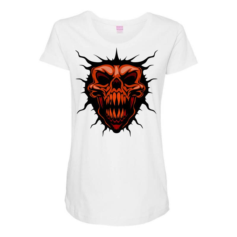 Evil Face Maternity Scoop Neck T-shirt | Artistshot