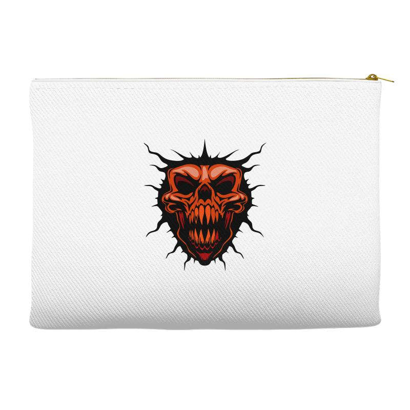Evil Face Accessory Pouches | Artistshot