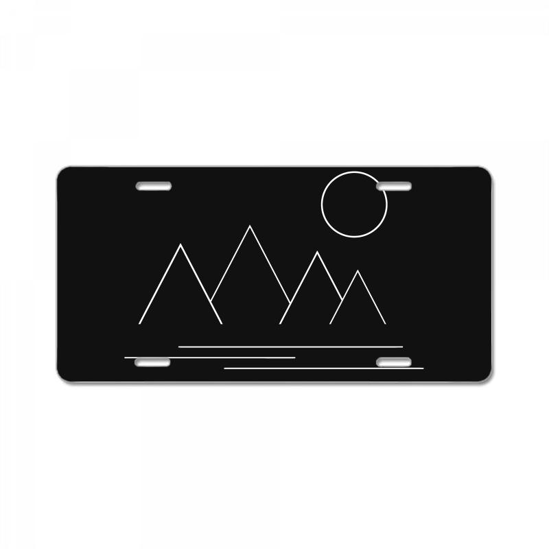 Mountains And Sun License Plate | Artistshot