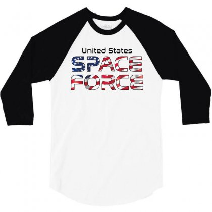 United States Space Force American Flag 3/4 Sleeve Shirt Designed By Bigdlab