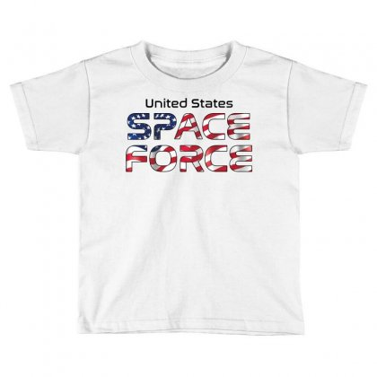 United States Space Force American Flag Toddler T-shirt Designed By Bigdlab