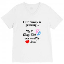 Our Family is Growing V-Neck Tee | Artistshot