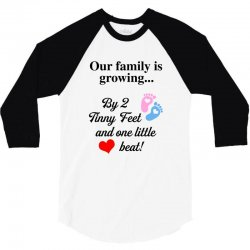 Our Family is Growing 3/4 Sleeve Shirt | Artistshot
