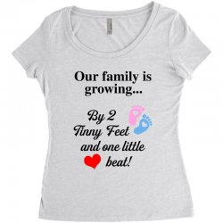 Our Family is Growing Women's Triblend Scoop T-shirt | Artistshot
