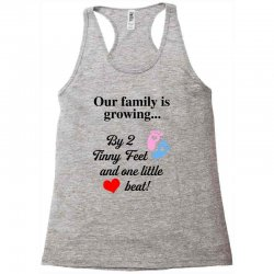 Our Family is Growing Racerback Tank | Artistshot