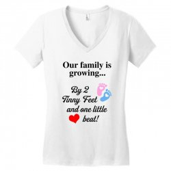 Our Family is Growing Women's V-Neck T-Shirt | Artistshot