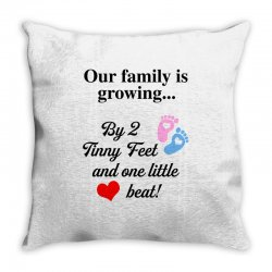 Our Family is Growing Throw Pillow | Artistshot