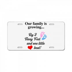 Our Family is Growing License Plate | Artistshot