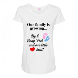 Our Family is Growing Maternity Scoop Neck T-shirt | Artistshot