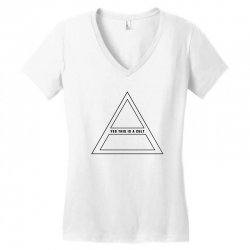 Yes This Is A Cult Women's V-Neck T-Shirt | Artistshot