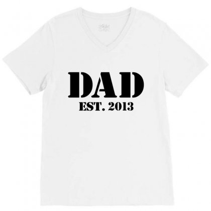 Dad V-neck Tee Designed By Megaagustina