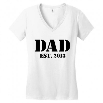 Dad Women's V-neck T-shirt Designed By Megaagustina