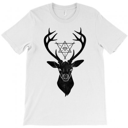 Deer With Diamond T-shirt Designed By Bigdlab