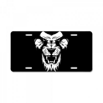 Angry Lion License Plate