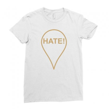 Hate Ladies Fitted T-shirt Designed By Megaagustina